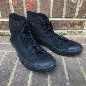 Men's Converse Black High Top Sneakers Sz 10.5